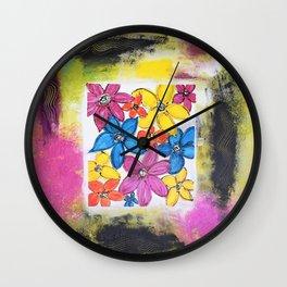 FLOWER WINDOW Wall Clock