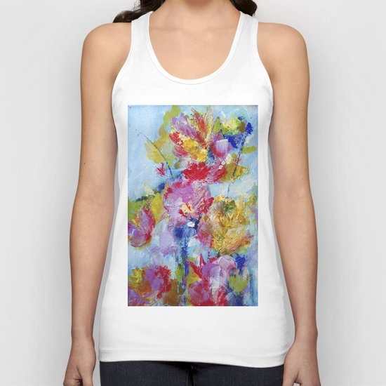 Abstract floral painting 5 Unisex Tank Top