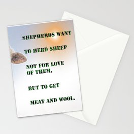 Shepherds and sheep Stationery Cards