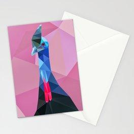 Geometric cassowary Stationery Cards