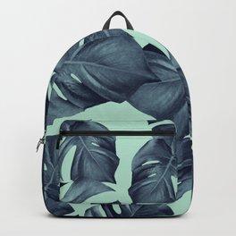 Monstera Leaves Pattern #10 #tropical #decor #art #society6 Backpack