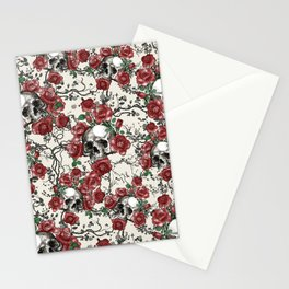 Skulls and Roses or Les Fleurs du Mal Stationery Cards