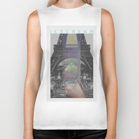 icecream Biker Tanks featuring Icecream by john muyargas