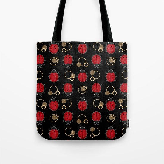 Cheerful ladybugs . Tote Bag