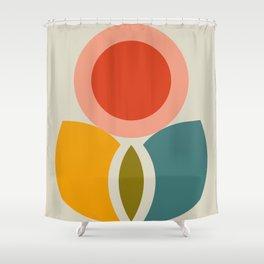 mid century bauhaus geometry large 2 Shower Curtain