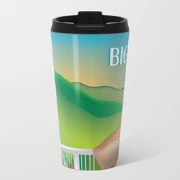 Big Sur, California - Skyline Illustration by Loose Petals Travel Mug