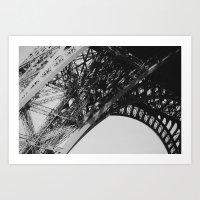 Eiffel Tower Close-up Art Print