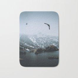 Seagulls at an Alpine Lake? Bath Mat