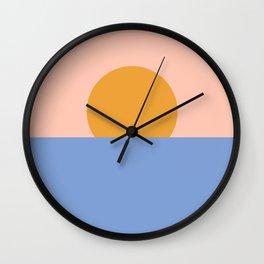 Minimalist Ocean Sunset Wall Clock
