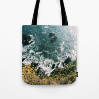 big sur Tote Bags featuring Kirk Creek, Big Sur by GBret