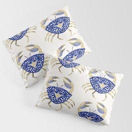Crab – Navy & Gold Pillow Sham