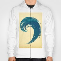 - blue 'davy jones' wave - Hoody