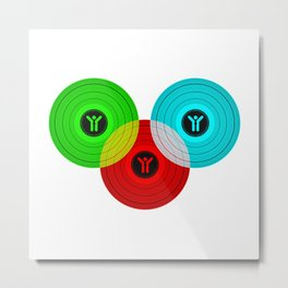 Vinyls Metal Print