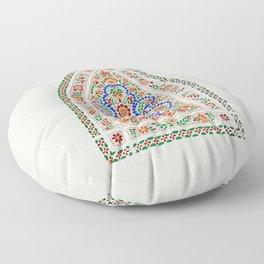 Persian Art Decorative Stained glass Window, Kashan, Iran Floor Pillow
