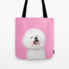 Laughing Puppy Tote Bag