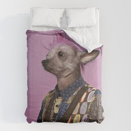 Punk Chinese Crested Dog Comforters