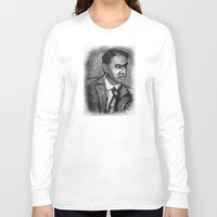 sagan Long Sleeve T-shirts featuring Carl Sagan by Wesley S Abney