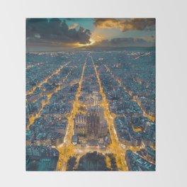Sunset in Barcelona Decke