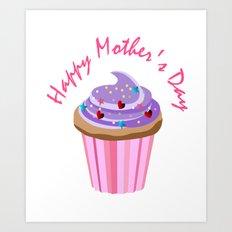 Happy Mother's Day Cupcake Art Print