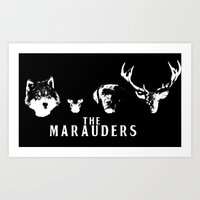 marauders Art Prints featuring The Marauders by pirateprincess