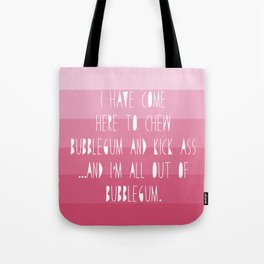 Kickass Bubblegum Tote Bag