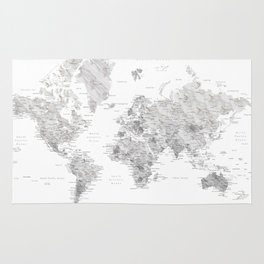 World map rugs society6 light grey and brown marble world map rug gumiabroncs Images