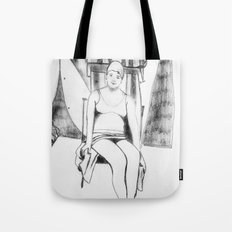 Bather with cap Tote Bag