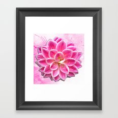 Pretty in Pink Dahlia Framed Art Print