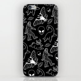 Cryptid Pattern: White Lines iPhone Skin