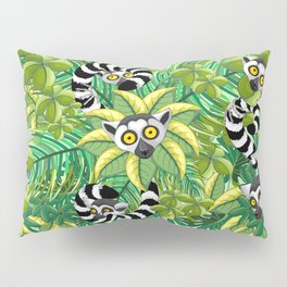 Lemurs on Madagascar Rainforest Pillow Sham