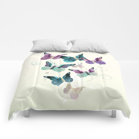 Butterfly dance Comforters