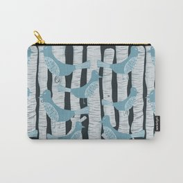 For the Birds and Birch Trees Carry-All Pouch