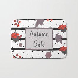 Autumn Sale. Advertising Card Bath Mat