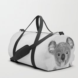 Baby Koala - Black & White Duffle Bag