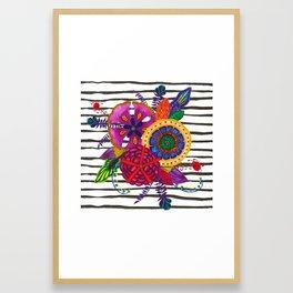 Jungle Flowers Framed Art Print