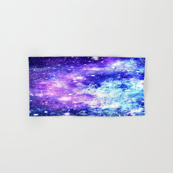 Chaotic Space : Galaxy Bright Purple & Blue Hand & Bath Towel
