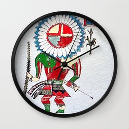 Kachina Wall Clock