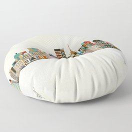 richmond virginia skyline Floor Pillow