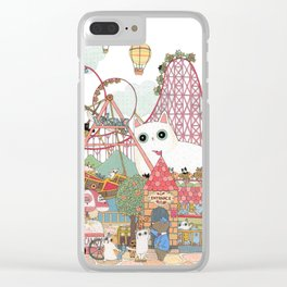 the Day of the rollercoaster Clear iPhone Case