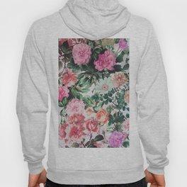 Vintage green pink lavender country floral Hoody