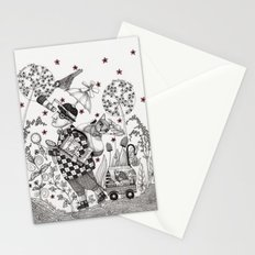 Mr. Hat goes to the Park Stationery Cards