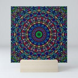 Colorful Church Window Mandala Mini Art Print