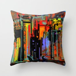 Busy Saturday Night Throw Pillow