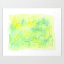 Greenery Abstract Art Print