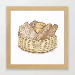 Basket of Bread Framed Art Print