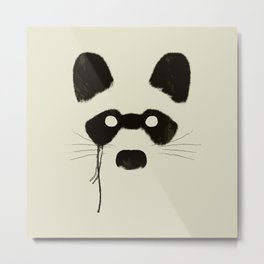 Raccoon {Light} Metal Print