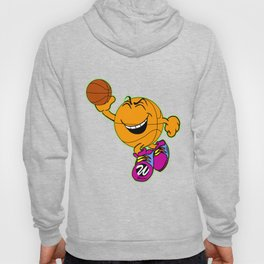 Basketball Cartoon Character Jumping for Slam Dunk Hoody