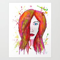 valentina Art Prints featuring Valentina by Laurie Art Gallery
