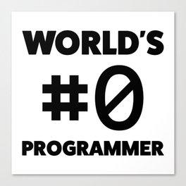 World's #0 programmer Canvas Print