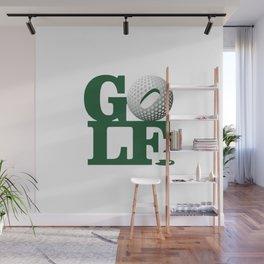 Love Golf Wall Mural